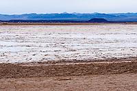 United States, California, near Twentynine Palms. Large salt plain.