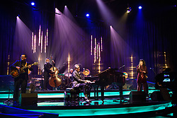 Jeff Goldblum and Imelda May performing during the filming of the Graham Norton Show at BBC Studioworks 6 Television Centre, Wood Lane, London, to be aired on BBC One on Friday evening.