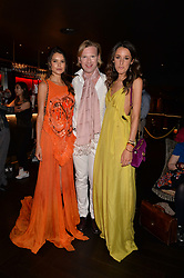 Sarah Ann Macklin, Henry Conway and Rosanna Falconer at the Quaglino's Q Legends Summer Launch Party hosted by Henry Conway at Quaglino's, 16 Bury Street, London England. 18 July 2017.