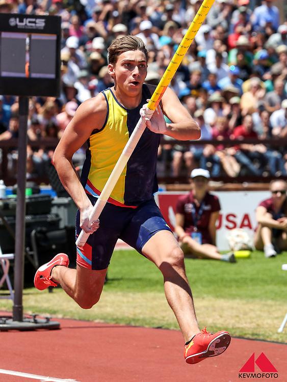 "Armand ""Mondo"" Duplantis, American representing Sweden, wins pole vault at 2019 The Prefontaine Classic Track & Field<br /> IAAF Diamond League"