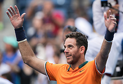 September 4, 2018 - Flushing Meadows, New York, U.S - Juan Martin del Potro wins his match against John Isner on Day 8 of the 2018 US Open at USTA Billie Jean King National Tennis Center on Tuesday September 4, 2018 in the Flushing neighborhood of the Queens borough of New York City. Del Potro defeats Isner, 6-7(5-7), 6-3, 7-6(7-4), 6-2. (Credit Image: © Prensa Internacional via ZUMA Wire)