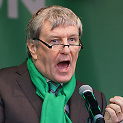 Irish Ambassador to Britian speech at the St Patrick's Day festival and Parade in London set to go green for another world-class 2016 on 13th March 2016 in Trafalgar Square, London, England,UK. Photo by © 2016
