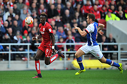 Tammy Abraham of Bristol City in action during the Sky Bet Championship match between Bristol City and Blackburn Rovers at Ashton Gate Stadium on 22 October 2016 in Bristol, England - Mandatory by-line: Paul Knight/JMP - 22/10/2016 - FOOTBALL - Ashton Gate Stadium - Bristol, England - Bristol City v Blackburn Rovers - Sky Bet Championship