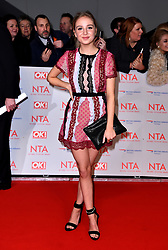 Eden Taylor-Draper attending the National Television Awards 2018 held at the O2 Arena, London. PRESS ASSOCIATION Photo. Picture date: Tuesday January 23, 2018. See PA story SHOWBIZ NTAs. Photo credit should read: Matt Crossick/PA Wire