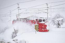 THEMENBILD - ein SChneeräumzug der ÖBB, aufgenommen am 10. Jaenner 2019 in Hopfgarten, Oesterreich // a snow removal train of the Austrian Federal Railways, Hopfgarten, Austria on 2019/01/10. EXPA Pictures © 2019, PhotoCredit: EXPA/ JFK