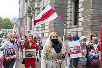 THE MARCH OF THE WOMEN: BELARUSIAN WOMEN FOLLOW IN THE FOOTSTEPS OF THE SUFFRAGETTES 10th oct 2020 photo Mark Anton Smith