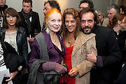 VIVIENNE WESTWOOD; TRACEY EMIN; ANDREAS KRONTHALER;, Do Not Abandon Me - private view od wok by Tracey Emin alongside that of Louise Bourgeois. <br /> Hauser & Wirth London, 15 Old Bond Street, London, 17 February 2011. -DO NOT ARCHIVE-© Copyright Photograph by Dafydd Jones. 248 Clapham Rd. London SW9 0PZ. Tel 0207 820 0771. www.dafjones.com.