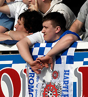 Photo: Jed Wee/Sportsbeat Images.<br /> Hartlepool United v Bristol Rovers. Coca Cola League 2. 05/05/2007.<br /> <br /> A Hartlepool fan looks despondent as his team let the championship slip through their fingers.