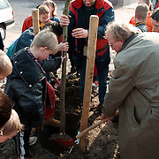 Boomplantdag 1998 aan het Platohof