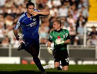 Photo: Daniel Hambury.<br />Fulham v Chelsea. The Barclays Premiership. 23/09/2006.<br />Chelsea's Frank Lampard celebrates his second goal.0-2.