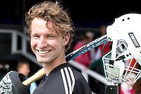 AMSTELVEEN - De eerste doelman voor het EK, Jaap Stockmann.De mannen van het Nederlands Hockeyteam hebben zondag, ter voorbereiding aan het EK dat volgende week in Duitsland wordt gehouden, geoefend tegen Canada (7-2).    Copyright Koen Suyk.
