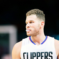 16 December 2015: Los Angeles Clippers forward Blake Griffin (32) rests during the Los Angeles Clippers 103-90 victory over the Milwaukee Bucks, at the Staples Center, Los Angeles, California, USA.