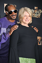 Snoop Dog, Martha Stewart at the 2017 MTV Movie And TV Awards Press Room held at The Shrine Auditorium on May 7, 2017 in Los Angeles, California.<br /><br />(Photo by Sthanlee Mirador) *** Please Use Credit from Credit Field ***
