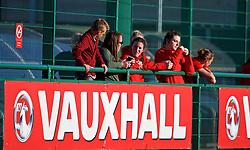 YSTRAD MYNACH, WALES - Wednesday, April 5, 2017: Wales' Helen Ward  (missing through pregnancy) watches on during the Women's International Friendly match against Northern Ireland at Ystrad Mynach. (Pic by Laura Malkin/Propaganda)