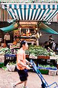 Fresh market on Gage Street, Central, Hong Kong.