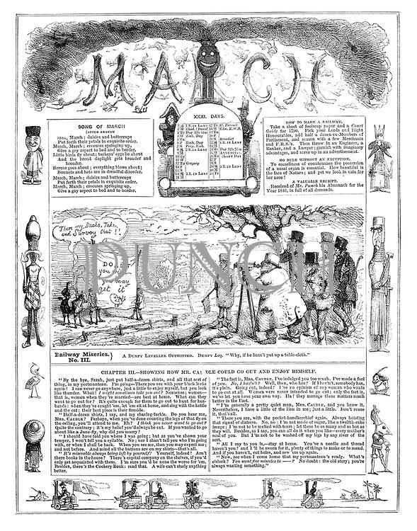 Punch Almanack 1846 March