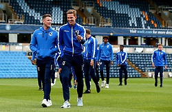 Ollie Clarke of Bristol Rovers and Joe Partington of Bristol Rovers arrive at Adam's Park for the Checkatrade Trophy Match against Wycombe Wanderers - Mandatory by-line: Robbie Stephenson/JMP - 29/08/2017 - FOOTBALL - Adam's Park - High Wycombe, England - Wycombe Wanderers v Bristol Rovers - Checkatrade Trophy