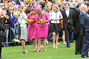 Koninginnedag 2008 / Queensday 2008. <br /> <br /> Koningin Beatrix viert Koninginnedag dit jaar in Friesland. De vorstin en haar familie bezochten op 30 april Makkum en Franeker.<br /> <br /> Queen Beatrix celebrates Queensday this year in Friesland (the Nothren provice in Holland). The Queen and its family visited Makkum and Franeker on 30 April.<br /> <br /> Op de foto/ On the Photo: Princes Marilene , Princes Laurentien and Princes Maxima