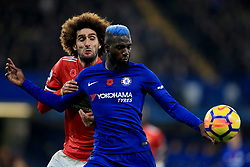 5 November 2017 -  Premier League - Chelsea v Manchester United - Tiemoue Bakayoko of Chelsea tangles with Marouane Fellaini of Manchester United - Photo: Marc Atkins/Offside