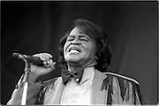 James Brown performs at the 2003 Bonnaroo Music Festival in Manchester, Tennessee..Photo by Bryan Rinnert