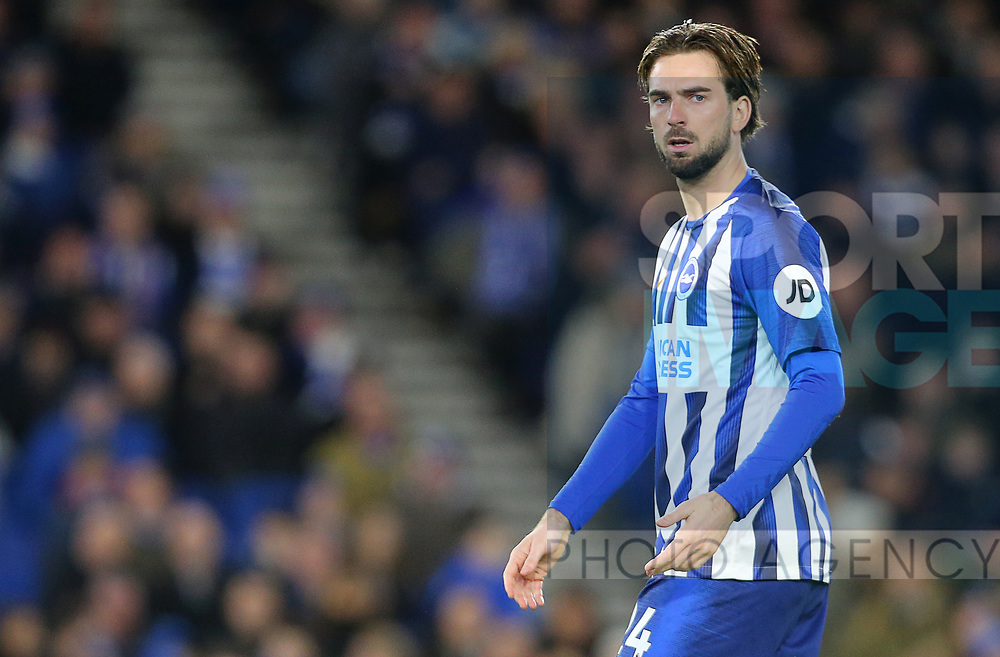 Brighton's Davy Proepper during the Premier League match at the American Express Community Stadium, Brighton and Hove. Picture date: 8th February 2020. Picture credit should read: Paul Terry/Sportimage