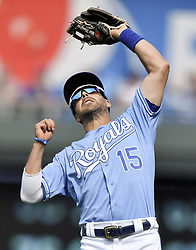 September 12, 2017 - Kansas City, MO, USA - Kansas City Royals second baseman Whit Merrifield makes a catch in shallow right field for an out on Chicago White Sox's Jose Abreu in the ninth inning on Tuesday, Sept. 12, 2017 at Kauffman Stadium in Kansas City, Mo. (Credit Image: © John Sleezer/TNS via ZUMA Wire)