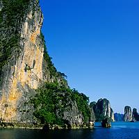 Limestone Island Towers, Halong Bay, Vietnam