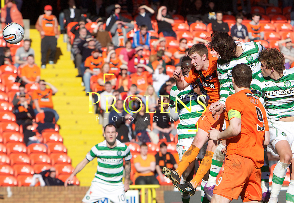 SFA, SPL WILLIAM HILL  SCOTTISH  FA CUP  6th round, Season 2011-12  DUNDEE UNITED   FC v CELTIC  FC..11-03-12..  .Celtic's Gorgios Samaras scores to  male it 2-0  During the William Hill Scottish Cup 6th Round match between (SPL) Clydesdale Bank Premier League teams Dundee United FC and Celtic FC. As Celtic look to maintain thier chances of a domestic clean sweep and treble.. At Tannadice Stadium, Dundee.Picture, Mark Davison/ Prolens Photo Agency/PLPA.<br /> Sunday 11th March 2012