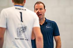 Trainer Coach Paul van der Ven of Sliedrecht in action in the second round between Sliedrecht Sport and Draisma Dynamo on February 29, 2020 in sports hall de Basis, Sliedrecht