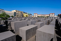 Berlin, Germany. Memorial to the Murdered Jews of Europe, also known as the Holocaust Memorial. Opened 2005.