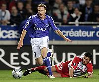 Fotball<br /> UEFA Cup<br /> Foto: imago/Digitalsport<br /> NORWAY ONLY<br /> <br /> 29.09.2005  <br /> <br /> Alexander Färnerud (Strasbourg, li.) gegen Mario Majstorovic (Graz)