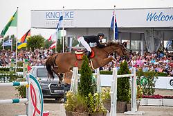 Cordon Pilar, ESP, Galine de Cour Zichelhof<br /> Grand Prix Rolex powered by Audi <br /> CSI5* Knokke 2019<br /> © Hippo Foto - Dirk Caremans<br /> Cordon Pilar, ESP, Galine de Cour Zichelhof
