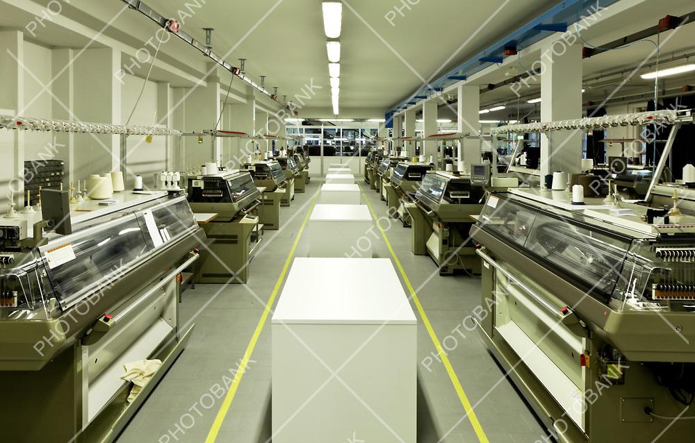 Industrial textile factory, interior