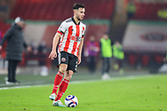 Portrait of Sheffield United defender George Baldock (2)  during the Premier League match between Sheffield United and Liverpool at Bramall Lane, Sheffield, England on 28 February 2021.