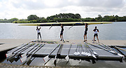 Caversham Reading. UK.  LM 4-.  removing their boat from the water. GBR Blades and Oars. resting on the Boating Dock . GB Rowing 2011 World Cup team announcement,  Redgrave and Pinsent Lake.Tuesday  10/05/2011 [Mandatory Credit; Peter Spurrier/Intersport-images]