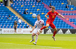 CARDIFF, WALES - Saturday, June 5, 2021: Wales' Aaron Ramsey sees his shot go wide during an International Friendly between Wales and Albania at the Cardiff City Stadium in their game before the UEFA Euro 2020 tournament. (Pic by David Rawcliffe/Propaganda)