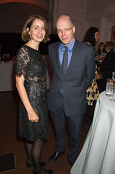 ALAIN & CHARLOTTE DE BOTTON  at a dinner to celebrate Sir David Tang's 20 year patronage of the Royal Academy of Arts and the start of building work on the Burlington Gardens wing of the Royal Academy held at 6 Burlington Gardens, London on 26th October 2015.