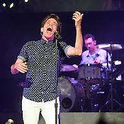 """WASHINGTON, DC - January 31st,  2013 - Nate Ruess of fun. (left) and Will Noon perform at DAR Constitution Hall in Washington, D.C. The band is still riding high off of the success of their sophomore album """"Some Nights"""" which featured with hits """"We Are Young"""" and the title track. (Photo by Kyle Gustafson/For The Washington Post)"""