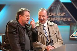 18.04.2016, WDR Studios, Koeln, GER, TV Komoedie, Ein Schnitzel geht immer, Fototermin, im Bild Armin Rhode (Schauspieler, als Guenther Kuballa) mit Ludger Pistor (Schauspieler, als Wolfgang Krettek) // during a photocall of german TV comedy 'Ein Schnitzel geht immer' at the WDR Studios in Koeln, Germany on 2016/04/18. EXPA Pictures © 2016, PhotoCredit: EXPA/ Eibner-Pressefoto/ Deutzmann<br /> <br /> *****ATTENTION - OUT of GER*****