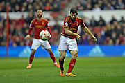 Nottingham Forest defender Bojan Jokic (3) during the Sky Bet Championship match between Nottingham Forest and Brighton and Hove Albion at the City Ground, Nottingham, England on 11 April 2016.