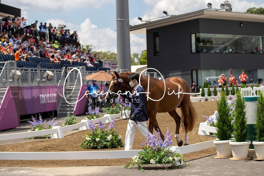 Sado Kazuki, JPN, Ludwig Der Sonnenkoenig 2, 145 <br /> Olympic Games Tokyo 2021<br /> © Hippo Foto - Dirk Caremans<br /> 23/07/2021