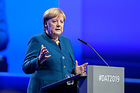 12 NOV 2019, BERLIN/GERMANY:<br /> Angela Merkel, CDU, Bundeskanzlerin, haelt eine Rede, Deutscher Arbeitgebertag 2019, Bundesverband Deutscher Arbeitgeber, BDA, Estrell Convention Center<br /> IMAGE: 20191112-01-172