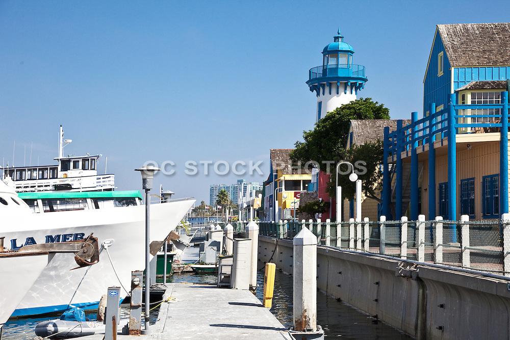Boats Docked At The Harbor In Marina Del Rey