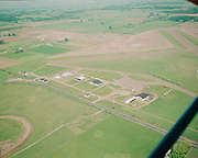 """Ackroyd 06953-2. """"Inman Flying Service. Aerial of Hillsboro Airport. June 23, 1956"""" (numbered and filed in B&W)"""