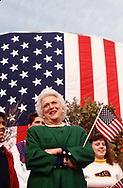 Barbara Bush at a Campaign rally in Houston, TX in 1992<br />Photo by Dennis Brack