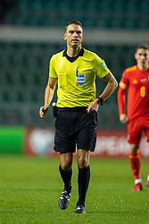 TALLINN, ESTONIA - Monday, October 11, 2021: Referee Sandro Schärer during the FIFA World Cup Qatar 2022 Qualifying Group E match between Estonia and Wales at the A. Le Coq Arena. Wales won 1-0. (Pic by David Rawcliffe/Propaganda)