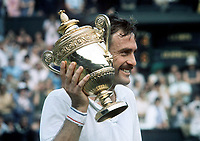 Tennis<br /> John Newcombe (Aus) with the trophy and  moustache.. <br /> Mens Singles Final. <br /> 03/07/1971 <br /> Wimbledon Tennis. <br /> Credit : Colorsport.