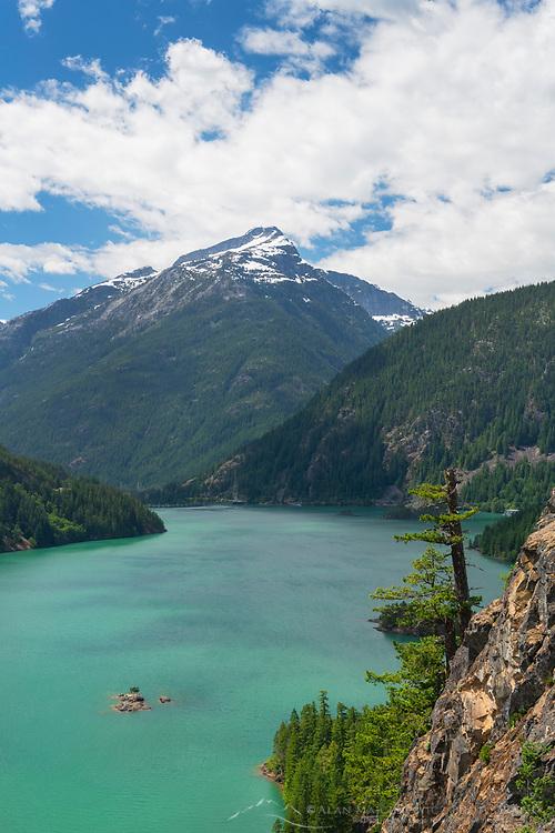 Diablo Lake and Davis Peak, Ross Lake National Recreation Area, North Cascades Washington