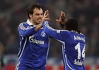 Fotball<br /> Tyskland<br /> Foto: Witters/Digitalsport<br /> NORWAY ONLY<br /> <br /> 14.03.2008<br /> <br /> Jubel 2:1 v.l. Heiko Westermann, Gerald Adamoah Schalke<br /> Bundesliga FC Schalke 04 - MSV Duisburg