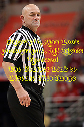 29 November 2014:  Referee Rick Randall during an NCAA men's basketball game between the Youngstown State Penguins and the Illinois State Redbirds  in Redbird Arena, Normal IL.